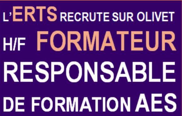 L'ERTS recrute FORMATEUR H/F AES